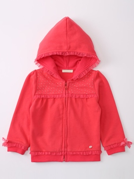 Ericdress Diamond Hooded Zipper Baby Girls Jacket