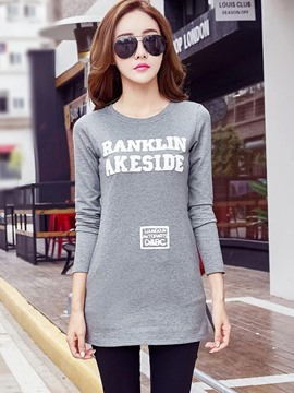 Ericdress Letter Print Casual T-Shirt
