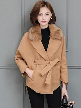 Ericdress faux Fur Collar Solid Color Cape