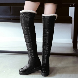 Ericdress Warm Faux Fur Over The Knee Boots