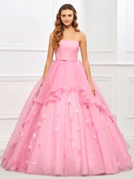 Ericdress Sweet Strapless Flower Layers Ball Gown Quinceanera Dress