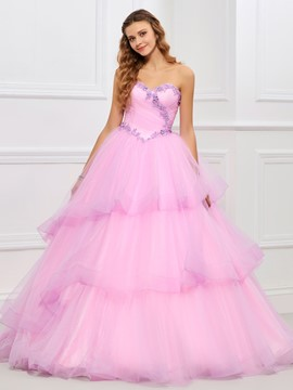 Ericdress Applique Sweetheart Layers Ball Gown Quinceanera Dress