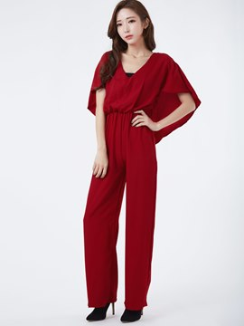 Ericdress Elegant Cape Style Jumpsuits Pants