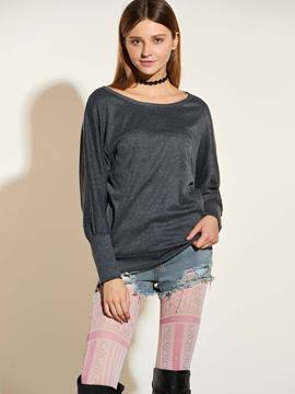 Ericdress Batwing Sleeve Plain Casual T-Shirt
