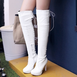 Ericdress Graceful PU Platform Thigh High Boots
