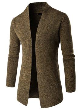 Ericdress Plain Mid-Length Cardigan Men's Knitwear