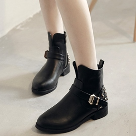 Ericdress PU Rivets Decoration Ankle Boots