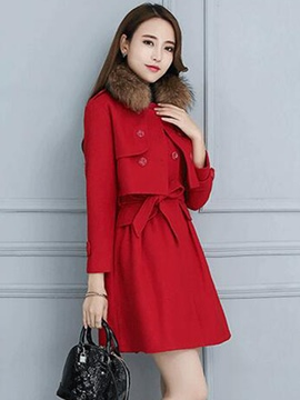 Ericdress Long Sleeve Double-Breasted Jacket Lace-Up Dress Suit