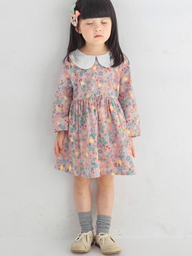 Ericdress Floral Print Doll Collar Girls Dress