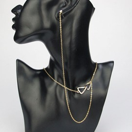 Ericdress Chic Golden Necklace with Earring