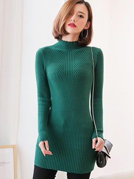 Ericdress Solid Color Slim Womens Knitwear