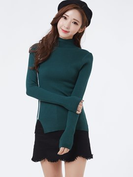 Ericdress Pullover Turtleneck Knitwear