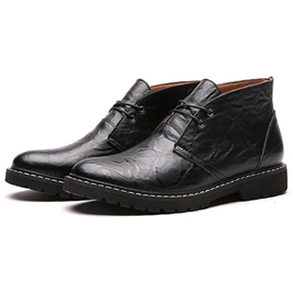 Ericdress Retro Round Toe Men's Martin Boots