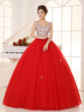 Ericdress Fancy Jewel Neck Long Sleeves Appliques Ball Gown Quinceanera Dress