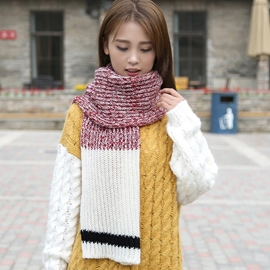 Ericdress Knitted Color Block Woolen Yarn Scarf