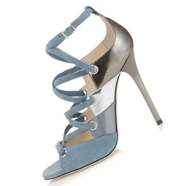 Ericdress Light Blue Color Block Peep Toe Ultra High Sandals