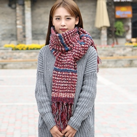 Ericdress Colorful Soft Wool Yarn Knitted Scarf
