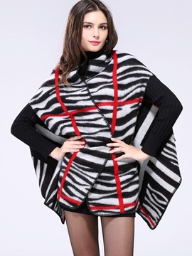Ericdress Stripped Geometric Loose Cape