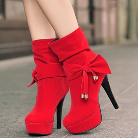 Ericdress Pretty Bowtie Platform High Heel Boots