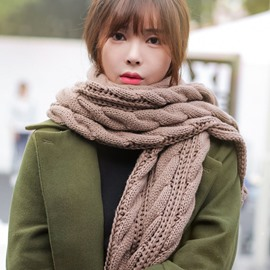 Ericdress Warm Twist Knitted Unisex Scarf