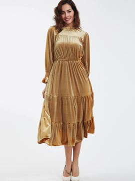 Ericdress Vintage Ruffled Collar Princess Sleeves Maxi Dress