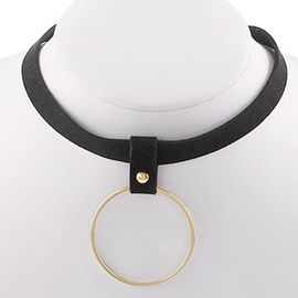 Ericdress Golden Circle Pendant Choker Necklace