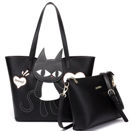 Ericdress Personality Graffiti Cat Print Handbags(2 Bags)