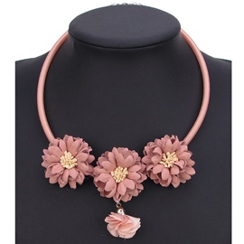 Ericdress Colorful Lace Flower Pendant Necklace