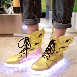 Ericdress Charming LED Wings Decorated Flat Boots