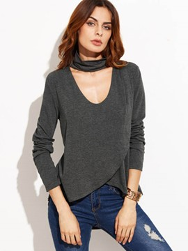 Ericdress Slim Round Neck T-Shirt
