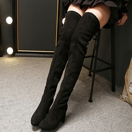 Ericdress Warm Suede Point Toe Thigh High Boots