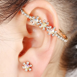 Ericdress Flower Rhinestone Inlaid Ear Cuff