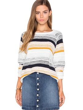 Ericdress Stripe Simplicity Pullover Knitwear