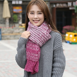 Ericdress Colorful Wool Yarn Soft Knitted Scarf
