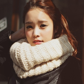 Ericdress Solid Color Winter Knitted Neck Warmer