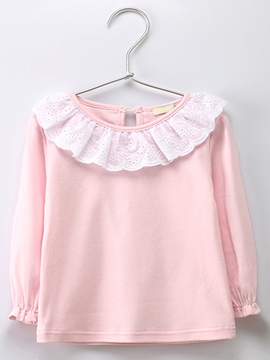 Ericdress Falbala Hollow Long Sleeve Baby Girls T-Shirt