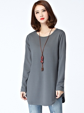 Ericdress Solid Color Womens Simple T-Shirt