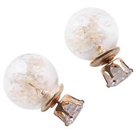 Ericdress Dry Flowers Spherical Stud Earrings