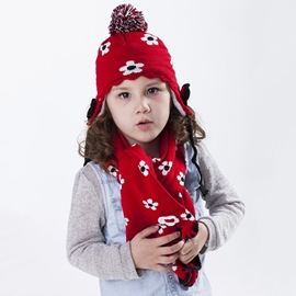 Ericdress Flowers Decorated Earmuffs Kid's Hat & Scarf
