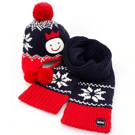 Ericdress Lovely Snowflake Decorated Kid's Hat & Scarf