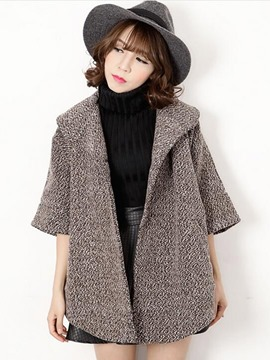 Ericdress Loose Batwing Casual Coat