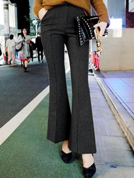 Ericdress High-Waist Patchwork Thick Loose Pants