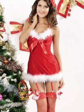 Ericdress Charming Halter Bowknot Christmas Costume