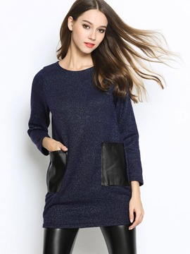 Ericdress Double Pocket Casual Knitwear