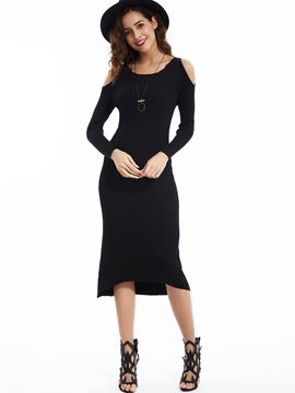 Ericdress Dew Shoulder Raglan Sleeves Sweater Dress