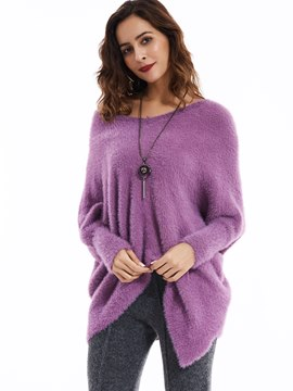Ericdress Plain Loose Pullover V-Neck Knitwear