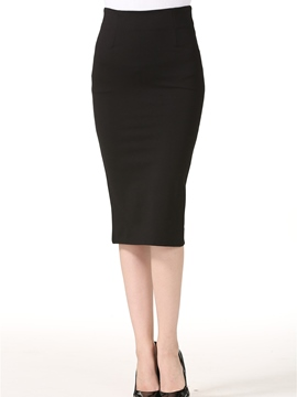 Ericdress Plain Color High-Waist Bodycon Skirt