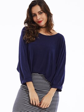 Ericdress Loose Round Neck Batwing Sleeves Knitwear