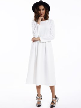 Round Neck Expansion Maxi Dress