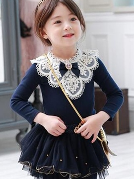 Ericdress Chic Lace Ruffles Girl's Dress